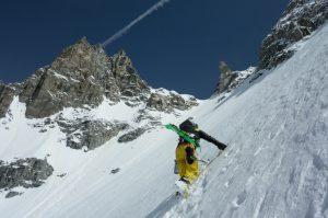 Ski pente raide